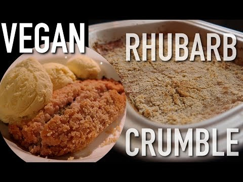 Healthy Vegan Rhubarb Crumble Recipe