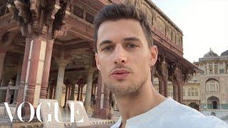 Around the World in 3 Minutes with Male Model Garrett Neff - Vogue