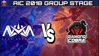 Aic 2018 : Nve Vs Tdc Group Stage | Nova Esports Europe Vs Toyota Diamond Cobra   Arena Of Valor