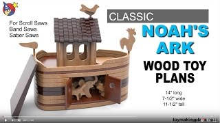 Wood Toy Plans - Easy Peasy Noah's Ark