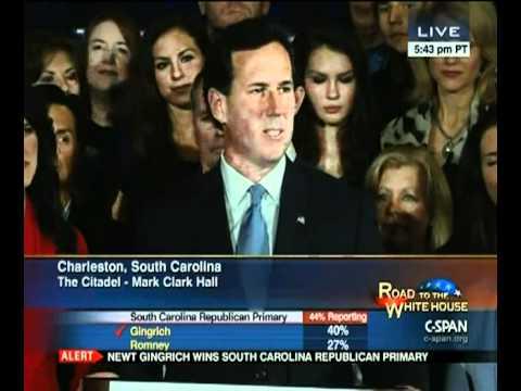Rick Santorum South Carolina Primary Night Speech