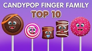 Candy Pop Finger Family Song | Top 10 Finger Family Songs | Daddy Finger Rhyme