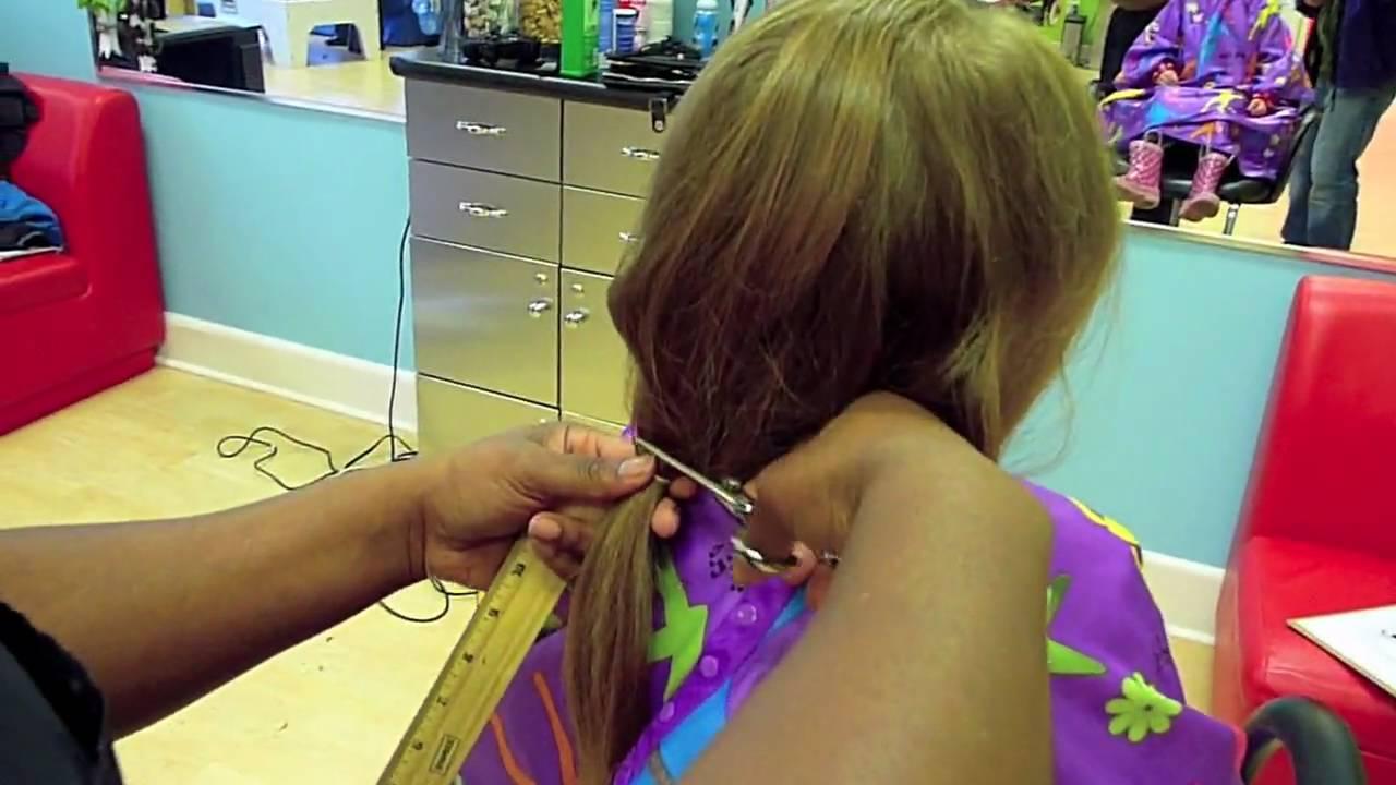 Ellies Haircut For Locks Of Love Youtube