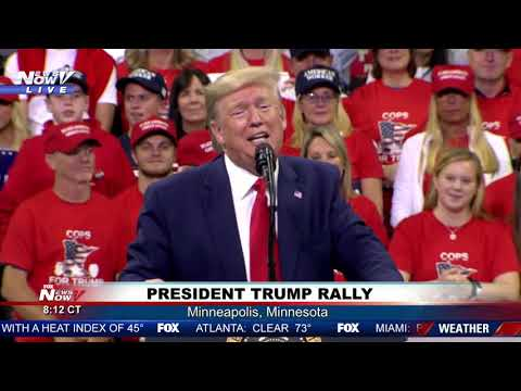 """WHERE'S HUNTER"": President Trump SLAMS Joe & Hunter Biden at MN rally"