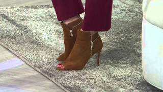Marc Fisher Suede or Leather Peep Toe Boots - Serenity with Leah Williams
