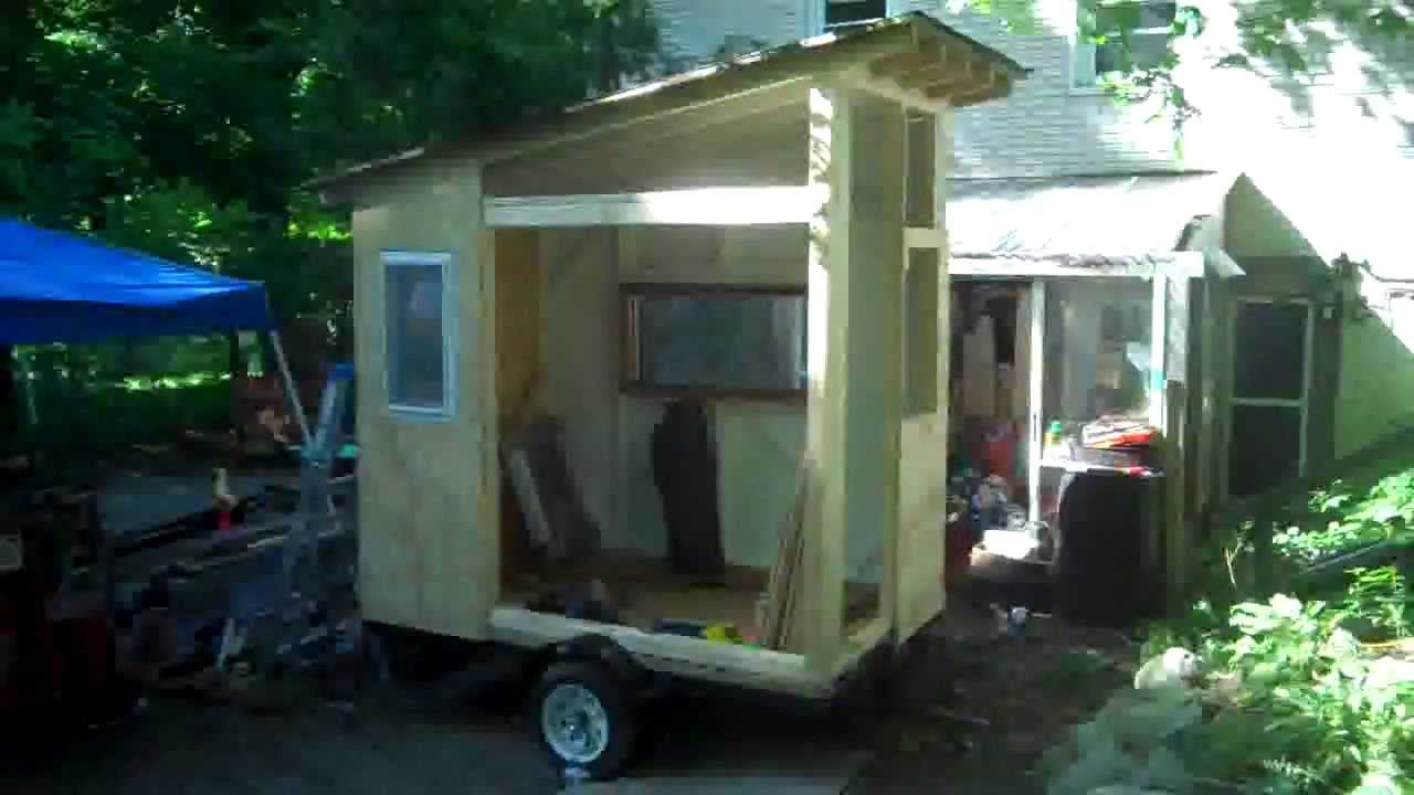 The cub quot a 40 square foot cabin tiny house on wheels with a bunk