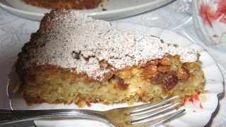 Овсяный яблочный пирог
