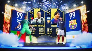 CRISTIANO RONALDO TOTY Y MESSI TOTY  IN PACKS!!! | BRUTAL TOP SOBRES TOTY EDITION!! | FIFA 19