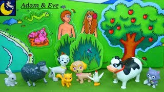 Bible Stories for Kids Toddlers Adam and Eve 7 days of Creation Sunday School Lesson Story Video