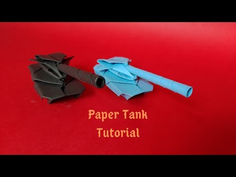 How to Make a Paper Tank 2 | TimeLapse | Origami Tank | InnoVatioNizer