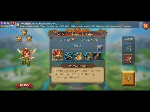 Lords Mobile - F2P Elite Hero Stage 6-15 Walkthrough (Prima Donna)
