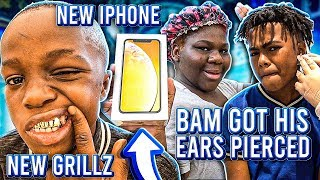 BAM & JIGGA GOT THEY EARS PIERCED & THE KIDS GOT NEW GRILLZ!!
