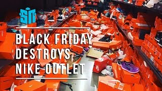 Black Friday Destroys Seattle Nike Outlet