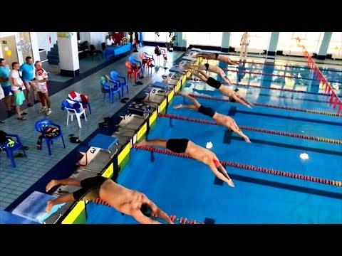 50 метров вольный стиль. 14-ый открытый чемпионат Кубани по плаванию в категории Мастерс.