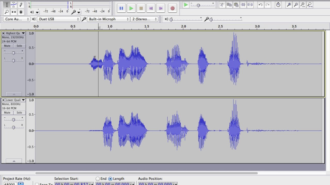 Digital Audio Sampling/Recording Basics (Sample Rate and Bit Depth ...