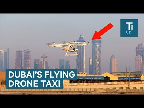 Dubai just tested its autonomous flying drone taxi