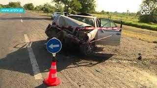 Zaqatalada Qeza - Avtomobil Agaca Chirpildi