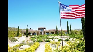 High-end Custom Built Mediterranean Estate on 20 acres perched at 4...