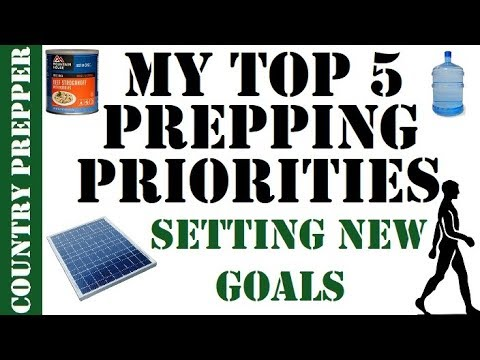 My Top 5 Prepping Priorities- Recognizing Mistakes & Setting New Goals