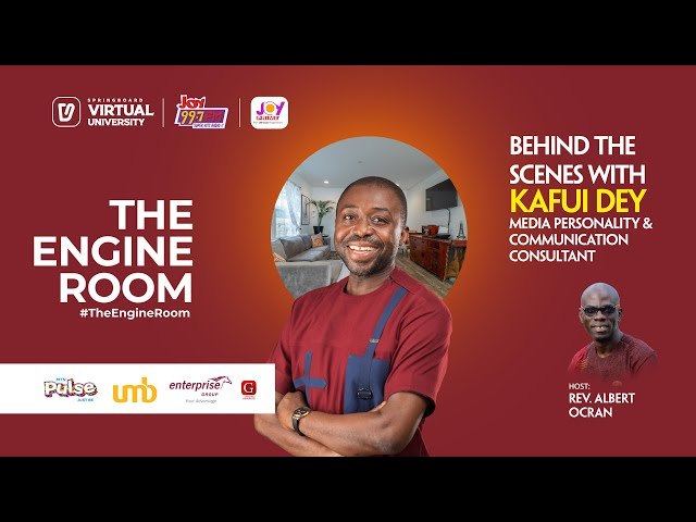 Kafui Dey gives a no-holds-barred account of his life's journey and learnings in #TheEngineRoom