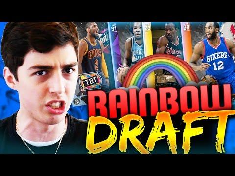 THE RAINBOW DRAFT! NBA 2K16 EXTREME FANTASY DRAFT