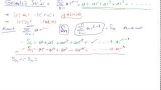 37) Kalkülüs 2 - Geometrik Seriler , Tanımı, Özellikleri