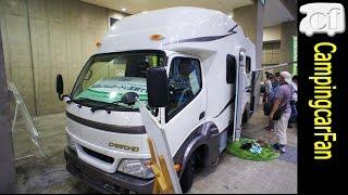 【レガードネオ】流麗なスタイルで横風や傾きに強いカムロードベースのスタンダードキャブコン [Regard Neo Plus] Japanese motorhome campingcar thumbnail