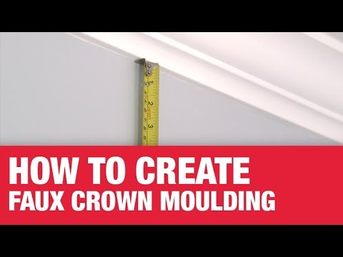 How To Create Faux Crown Moulding - Ace Hardware - YouTube