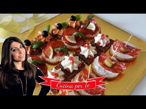 Canapè - Tartine per Aperitivo - Ricette Veloci