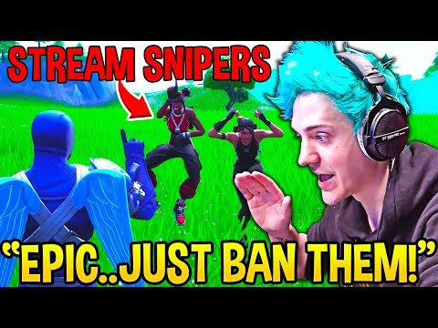 Ninja *DEMANDS* Help From Epic Games as STREAM SNIPERS are WORSE THAN EVER! - Fortnite Moments
