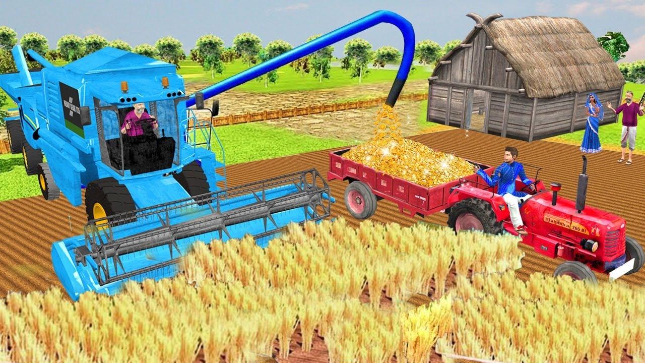 Must Watch Funny New Comedy Video सोने की खेती ट्रैक्टर Gold Farming Tractor Hindi Kahaniya Comedy