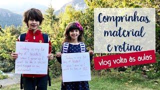 Volta às aulas! Compras, material escolar, nova rotina | Vlog Ep.17  • Lu Azevedo