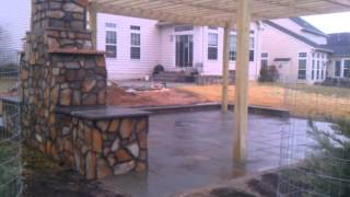 Outdoor Living Space; Fireplace Pergola Pond By Corad Outdoor Living And Home Improvement