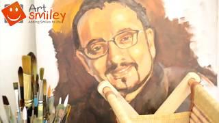 Artist Ranjan Chakraborty participating in World Art Dubai Exhibition with Art Smiley