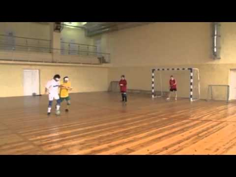 Blind footballers in Belarus show off their skills   video   Sport