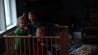 Caged kids.
