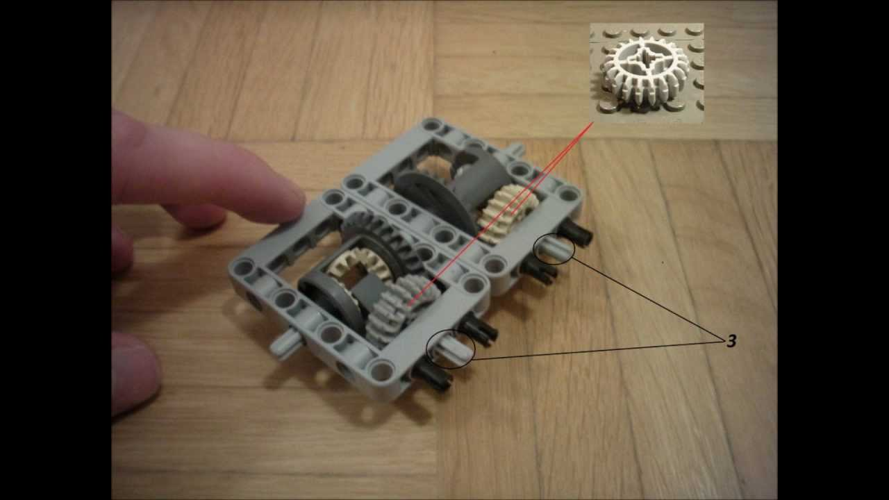 Lego Technic 2 Speed Gearbox   Instructions