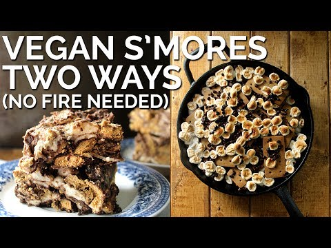 Vegan S'mores Two Ways (No Fire Required!) | Two Market Girls