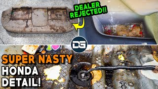Super Cleaning a DISASTER Honda Civic! | Insane Dealer Rejected Detailing TRANSFORMATION!