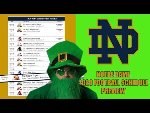NOTRE DAME FIGHTING IRISH 2020 COLLEGE FOOTBALL SCHEDULE PREVIEW