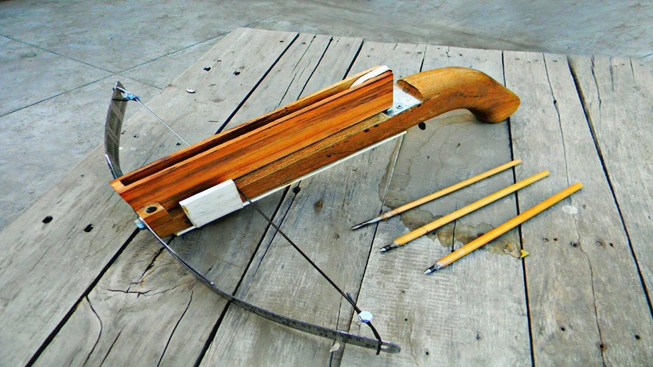 Homemade Crossbow | Easiest tutorial - YouTube