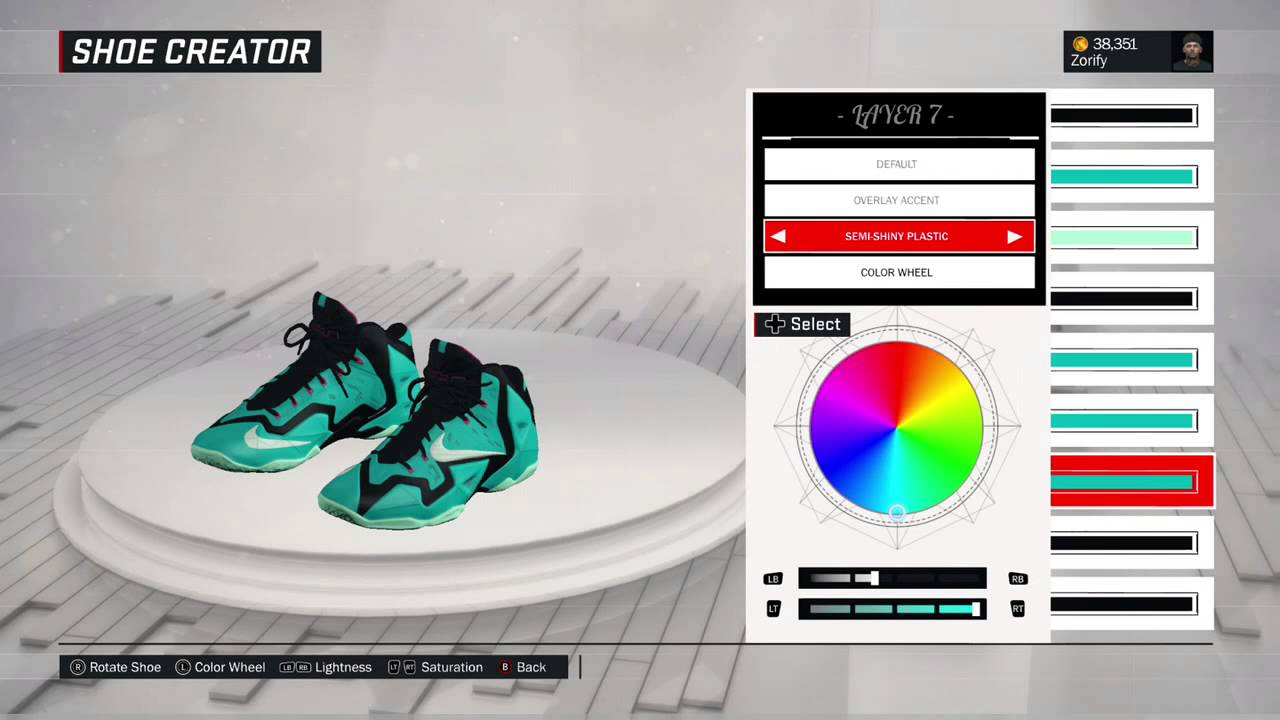 NBA 2K17 Shoe Creator - Nike LeBron 11