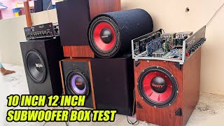 12 inch jbl1500  subwoofer + box bass test 10 inch * 5  subwoofer box bass test bass tube bass test