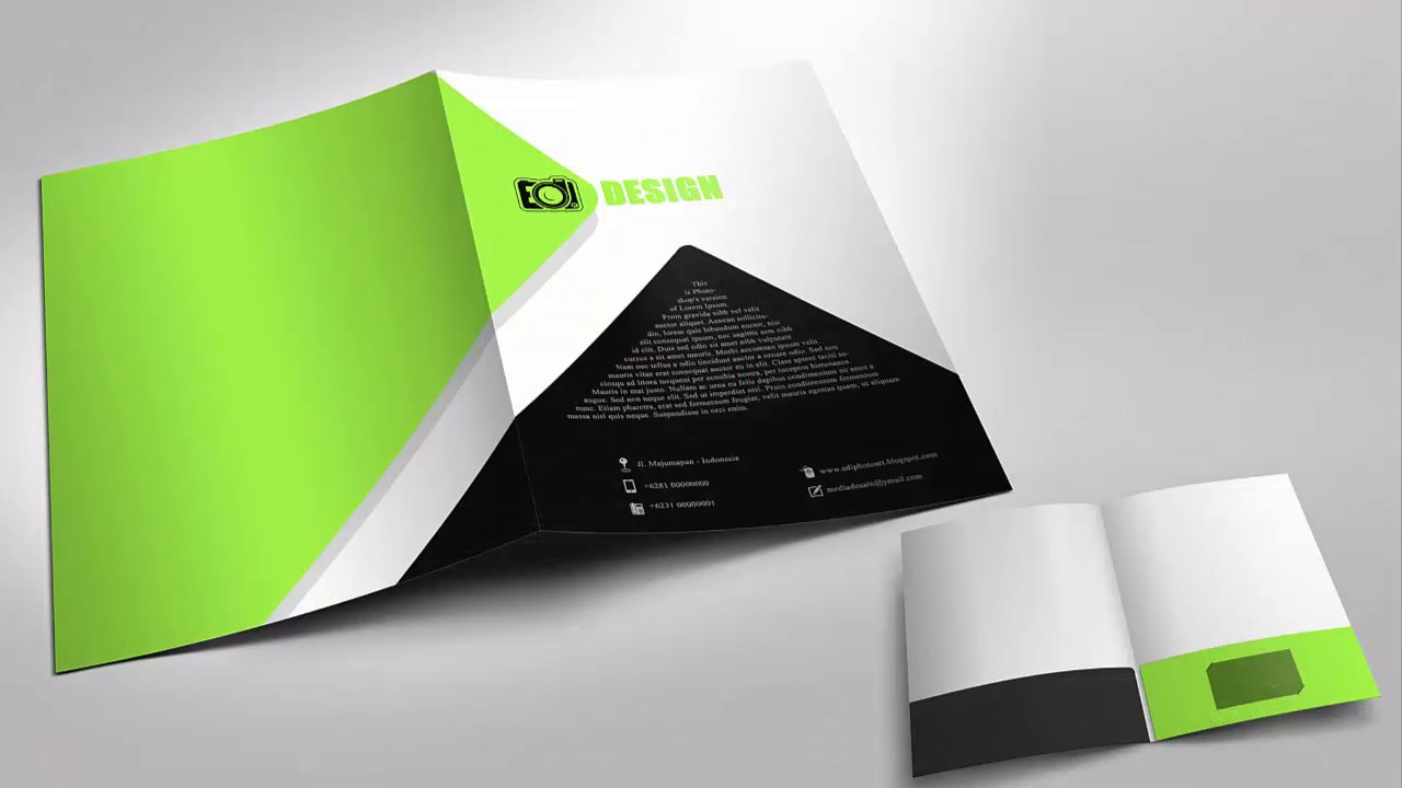 simple business folder designs with photoshop - youtube, Presentation templates