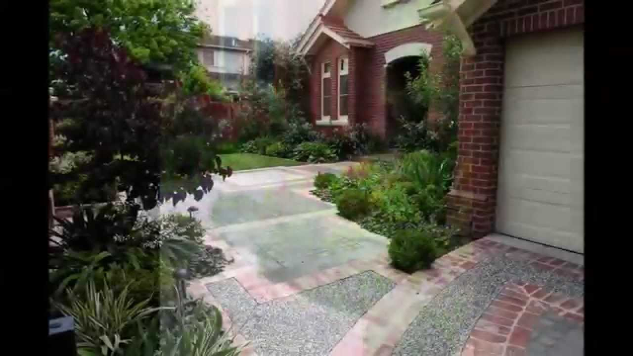 Edwardian front garden melbourne youtube for Front garden design ideas melbourne