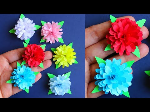 How To Make Small Paper Flower - Paper Craft - Paper Flower _ DIY Flowers
