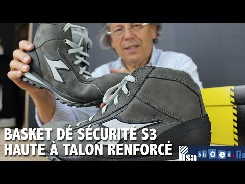 39d29f1edfb757 CHAUSSURES DE SECURITE HAUTE GLOVE DIADORA H S3 SRA - YouTube