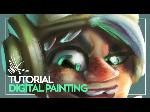 Character design digital painting tutorial timelapse