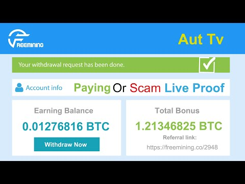 Freemining.co New Free Bitcoin Cloud Mining Site Paying Or Scam 0.02 BTC Live Withdraw Payment Proof