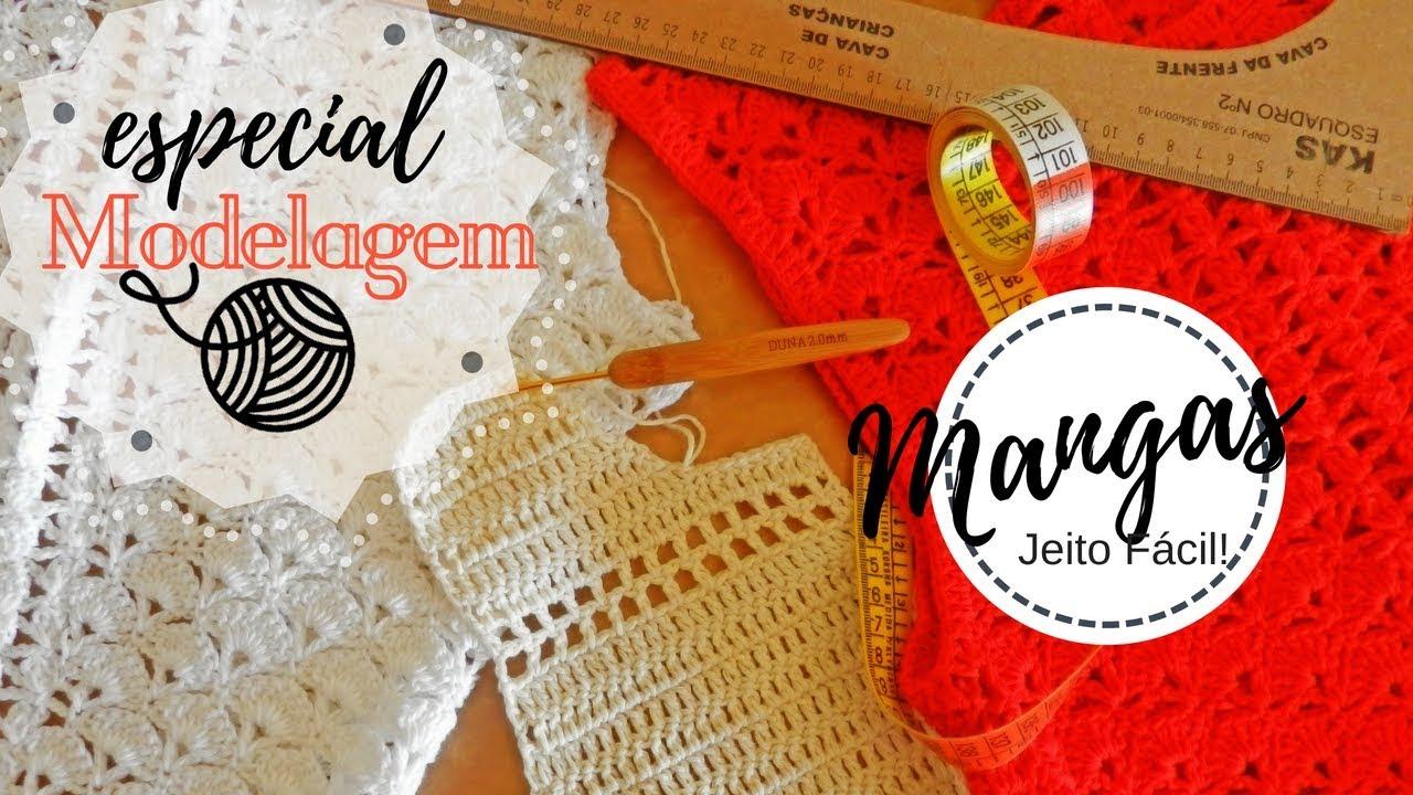 3 Modelagem Em Crochê Como Fazer Mangas Encaixando Na Cava